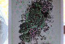 IndigoBlu Challenge 25 - Spring Greens / Design Team and Demonstrator challenge pieces