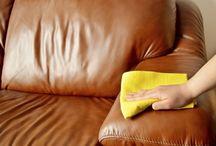 Limpiar muebles de cuero