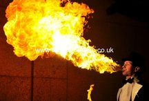 Fire Acts / Great fire performers for any event. Fire eaters, breathers, jugglers, spinners, dancers. Shows or freestyle fire. Get in touch for availability and prices. 0117 935 5200 or www.fireperformers.co.uk