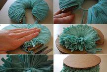 Pompons tissu