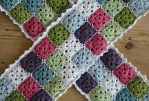 écharpe au crochet grannies