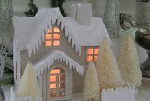 "Putz & Glitter Houses  /  ""Putzes,"" the German-American term for Christmas villages of the 1930's-1950's."