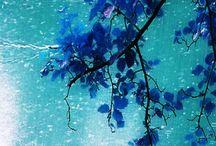 deszczowo - niebieski