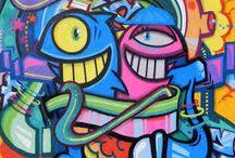 Iconos / El fin que busca este estilo es el de llamar la atención y buscar el posicionamiento en la mente del espectador, ya que es más fácil recordar un icono, que recordar una palabra.   Fuente: http://www.tiposde.org/arte/1047-tipos-de-graffitis/#ixzz4QOSWSV2C