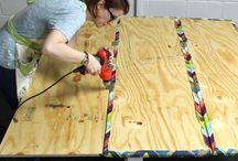 Cork board room divider
