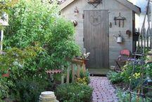 garden: shed & potting bench