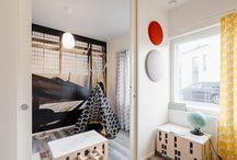 Kätevää tilanjakoa lastenhuoneisiin / Seinän sisään liukuvat Eclisse Pocket Door -liukuovet tarjoavat tarpeen mukaan joko yhtenäisiä tai yksityisiä tiloja. Tilanjako onnistuu kädenkäänteessä!
