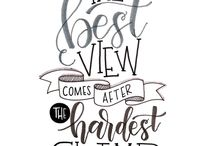 Quotes lettering