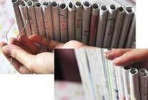 zelf een kastje en andere dingen maken van papier en karton