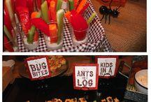 Camping theme snacks
