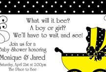 """BubbleBee Baby Shower by Lala Kares Flowers & Theme Parties / Fun baby shower idea for someone who is not finding out what they are having.....""""What will it bee? A boy or a girl? We'll have to wait & see! / by Karen Cruse"""