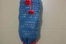 CROCHET KRAZY~PLASTIC BAG HOLDERS