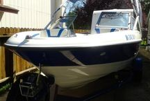 2007 Bayliner Flight 195 For Sale / $17,999.00  2007 Bayliner well maintained and runs great. Powered by a 220 hp 5.0 V8 Mercruiser and Alpha One I/O. Open bow seats 9 people, extended swim platform, Wake board tower that fold down, Bimini top and 1 year old boat cover.