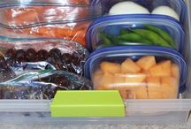 meal prepping clean healthy foods with kids