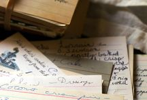vintage recipe books and notes / old pages full of love and wisdom