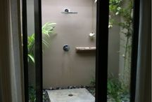 indoor/outdoor bath/shower