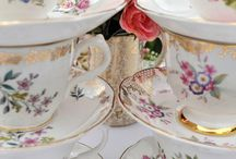 Tea cups, saucers & porcelain ware
