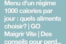 tableau  calorie