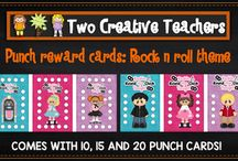 Student punch reward cards / Our range of student reward punch cards.
