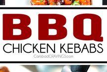 bbq chikcen kebabs