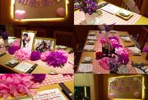 melinda bridal shower / #bridetobe #bridalshower #melindawedding #bridemaids #grossman #bestman #purplepinktheme #purplepinkbridalshower