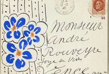 Illustrated envelopes / Inspirational Mail art and envelope art.  Proper correspondence that delights the receiver when it lands in the post box.