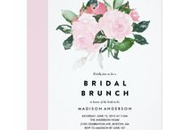 Bridal Brunch Invitations - Beautiful Invites for a Bridal Shower Brunch / Beautiful bridal brunch invitations to help you honor the gorgeous bride-to-be!  Choose from dozens of personalized invites to find the one that's perfect for your happy occasion.  #bridalbrunchinvitations #bridalbrunch