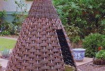 шалаш для детей плетение
