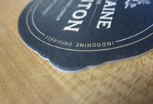 Die Cut / Printing finish involving a custom die to cut card stock into a shape