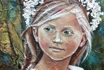 Angel.Kourkoulou fine artist www.angelpaints.com / http://www.angelpaints.com/littleangels&nymphs.html