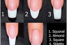 Nail manicures / Different nail lengths and color ideas
