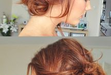 Cabelo / Ideias sobre corte, cor e penteados fáceis e príticos.