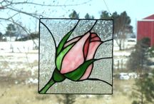 stained glass floral and abstract sun catchers