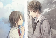 Anime/manga boy with girl
