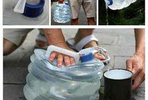 Складное ведро для воды / В собранном состоянии занимает не много места. Удобно в использовании. Вы всегда сможете набрать родниковой воды. Помыть руки или вымыть посуду не составит труда если есть у вас есть складная канистра  http://zacaz.ru/products/avtomobili-turizm/poleznoe-voditelyam/kanistra-dlya-vody/