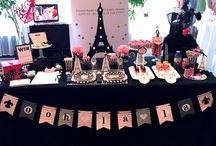 WOW Creation ♥ Paris Theme / I ♥ Paris Ready-To-Party Box displayed at the Alesia's Magnolias Event in Montreal, QC