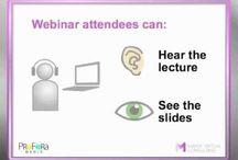 Webinars / Tools and events. All about web seminars (online seminars).