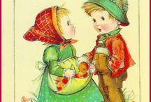 "Vintage Cards ""Little Children"""