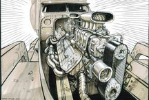 """Concept Art Machines That Created """"Fury Road""""."""