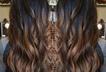 Brown hair with balayage