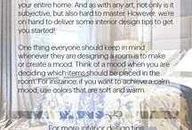 Interior Design Tips / Sharing little tidbits of interior design knowledge