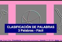 Intrusos - Nivel fácil. / http://informaticaparaeducacionespecial.blogspot.com.es/2009/05/clasificacion-de-palabras-3-elementos.html