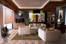 Living room Interior Designs by Eminent Enterprise LLP