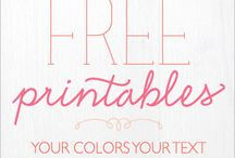Free Printables and Fonts / by Stormi Bussey