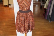 Lina Liri's Elegant High Fashion Deep Orange & Brown Color Dress Set Fourreau Style With Tulle / Lina Liri's Elegant High Fashion Deep Orange & Brown Color Dress Set Fourreau Style With Tulle