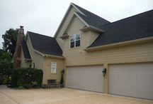 HardiePlank Autumn Tan   Soffit & Fascia   Chesterfield, MO (63006) / This is a siding project that was completed with James Hardie Siding Products including HardiePlank (Autumn Tan) and James Hardie Window & Door Trim (Arctic White).