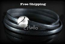 Wrap Leather Bracelets / Wrap Leather Bracelets #wrap #bracelets #unisex #jewelry #bracelet #dstello