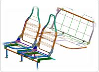 Seat Structure System / Complete seat structure for passenger car using ERW, CDW tubes, CRCA & HR sheet stampings, wired parts, hardware along with seat recliners.