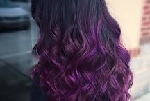 purple hair ombre