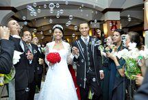 Saída dos noivos na Cerimônia / Inspiração para a hora da saída dos noivos da cerimônia.